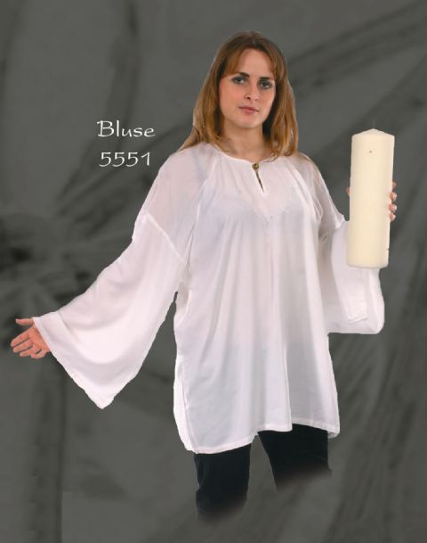 65-5551 Cotton Kurta~Gothic Hippy Plain Light Cotton Kurta~By Bares